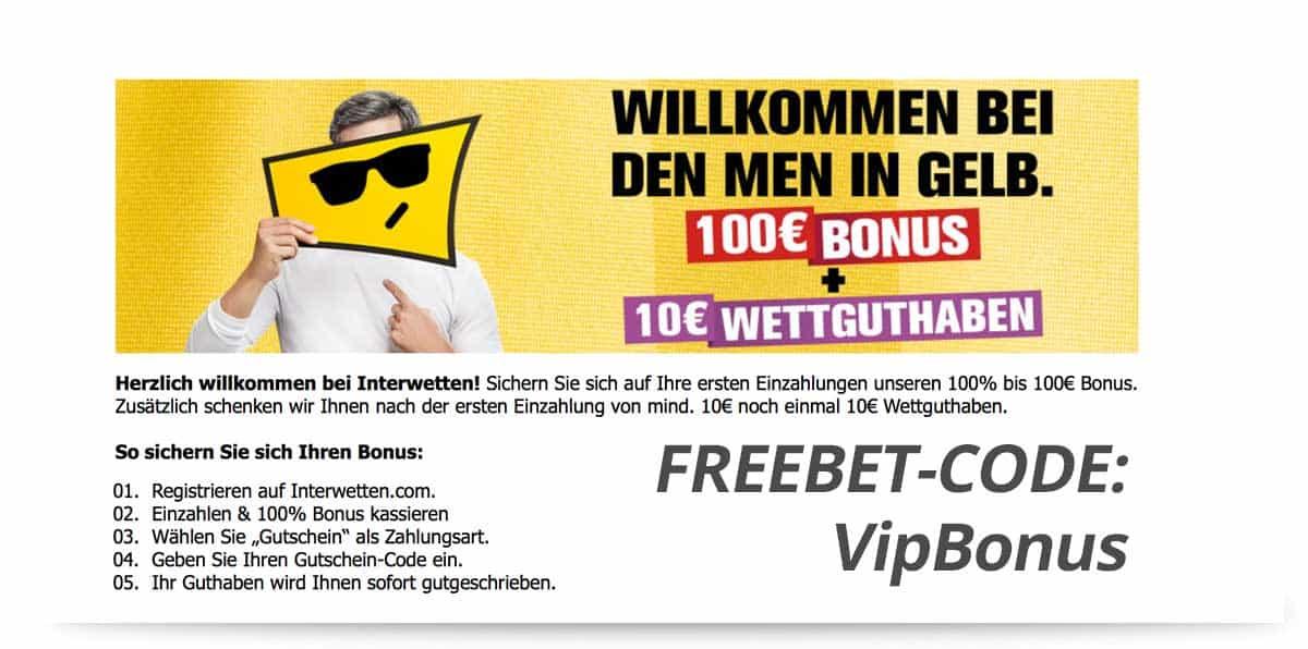 Interwetten Freebet