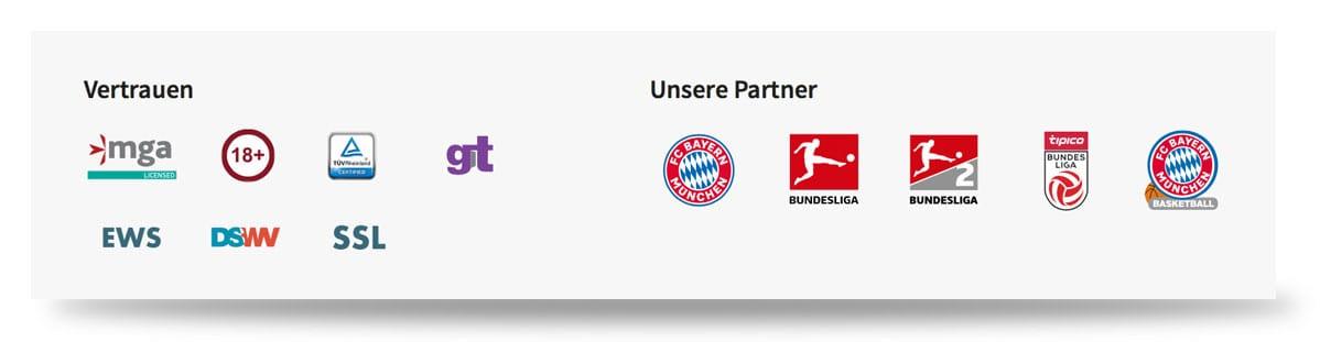Tipico Vertrauen durch Partnerschaften