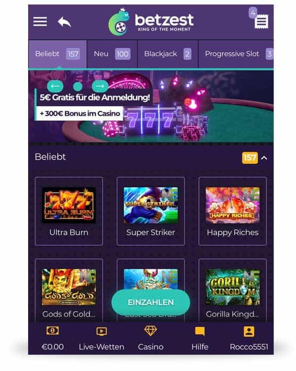 Betzest Casino App