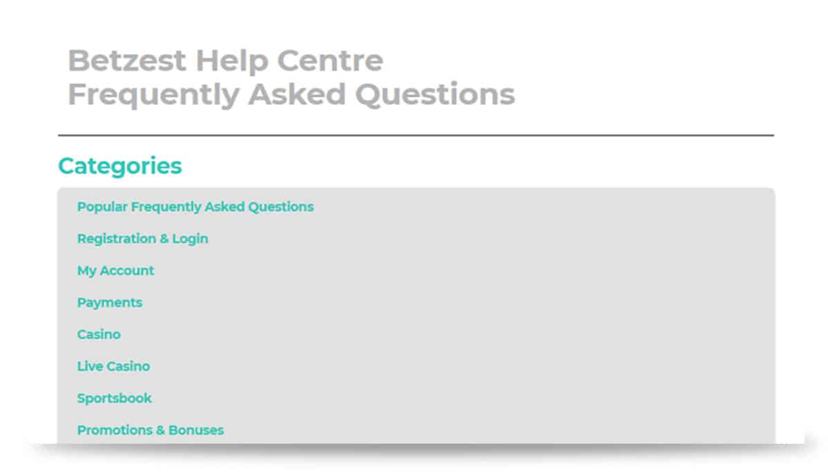 FAQ Betzest