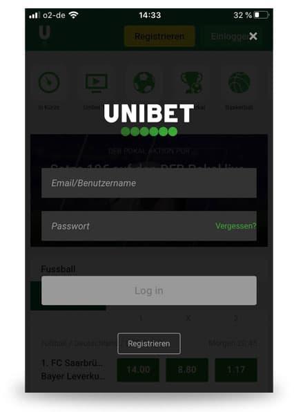Login Unibet App