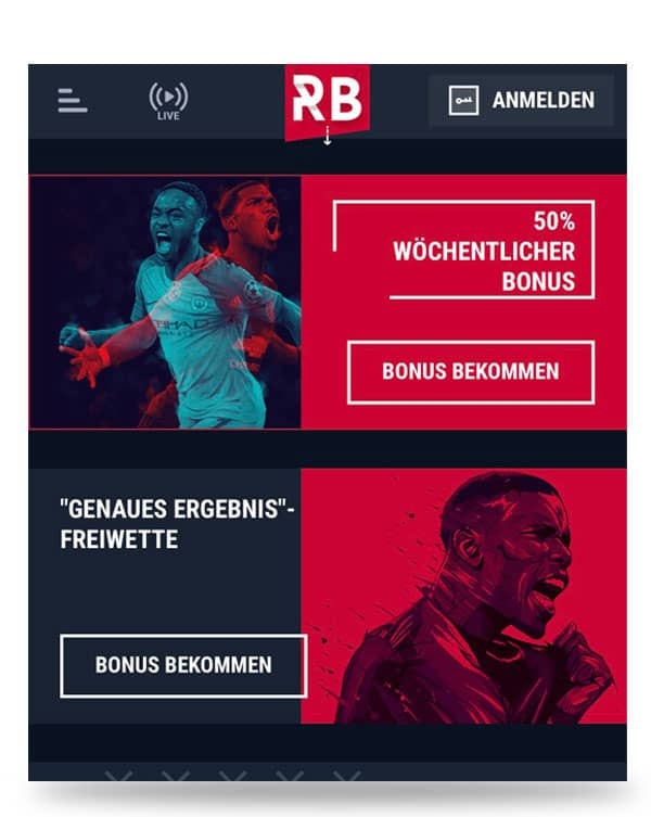 Wettbonus Angebot Rabona App