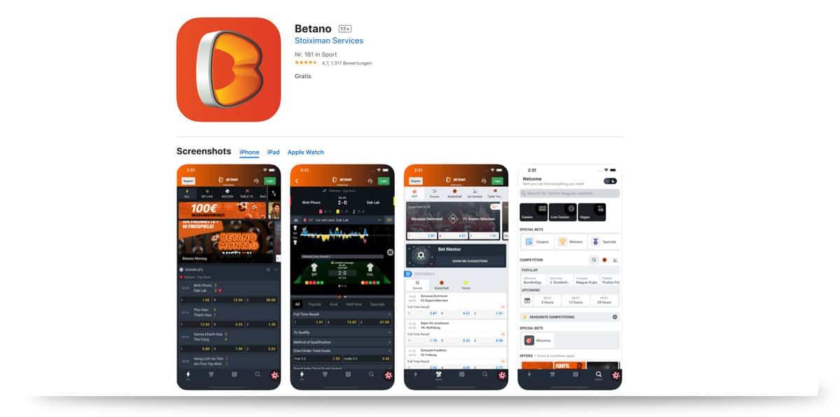 Betano iOS App
