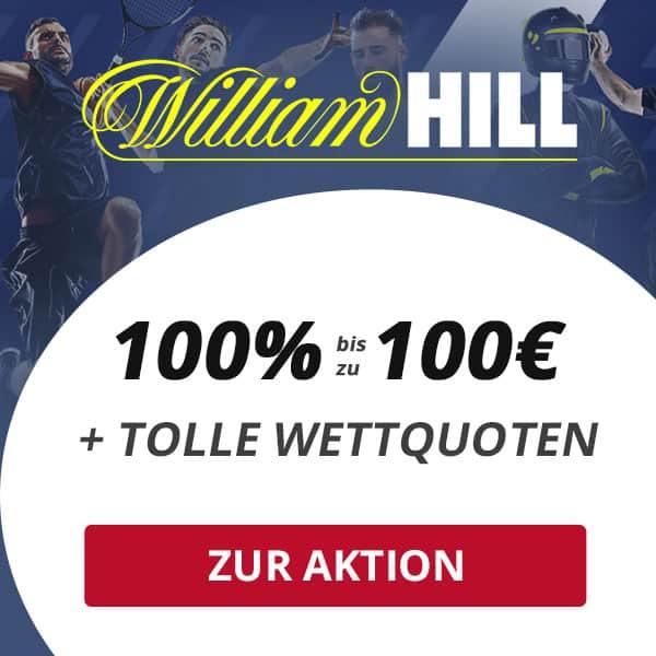 Exklusiver William Hill Wettbonus