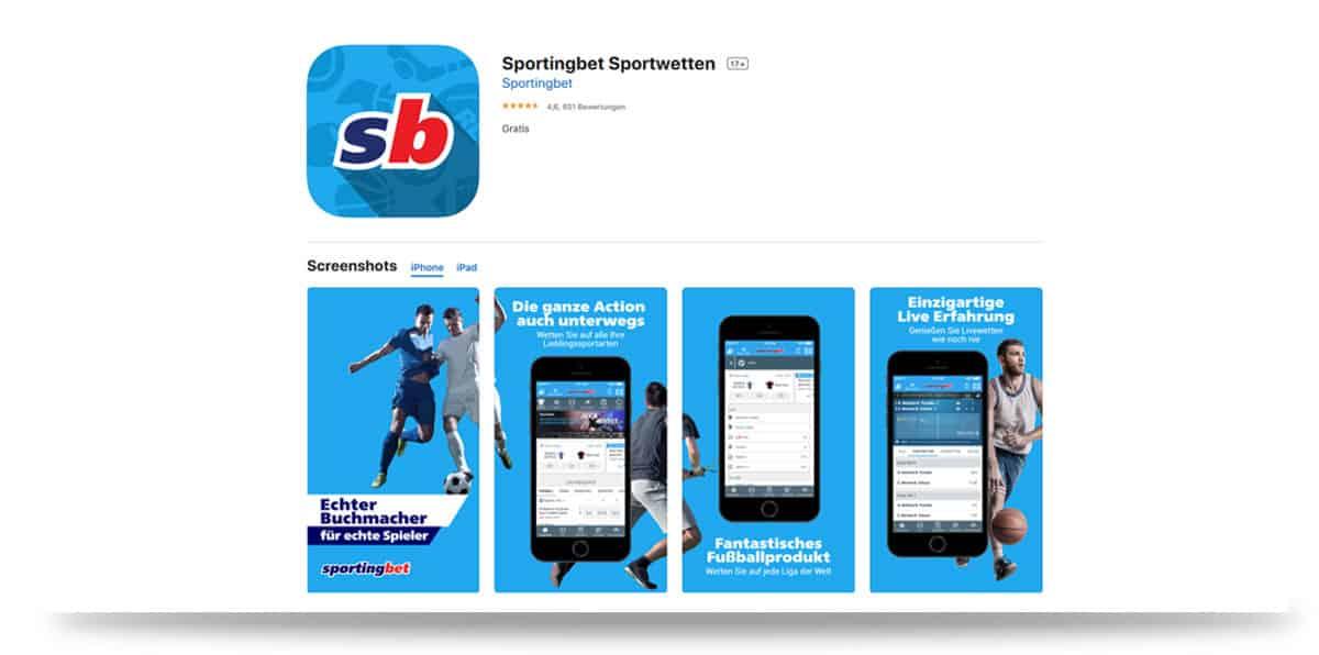 Sportingbet iOS App Store