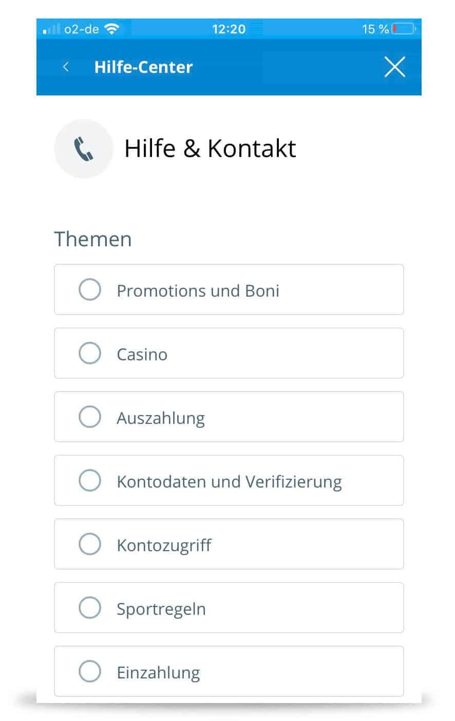 Sportingbet App Kontakt