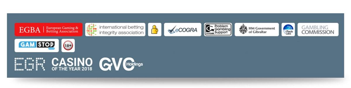 Trustsymbole Sportingbet Internetseite
