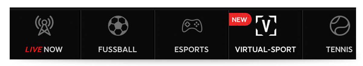 Wettauswahl 888sport Appp Menü