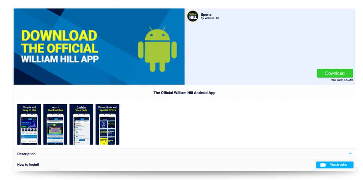 William Hill App Android