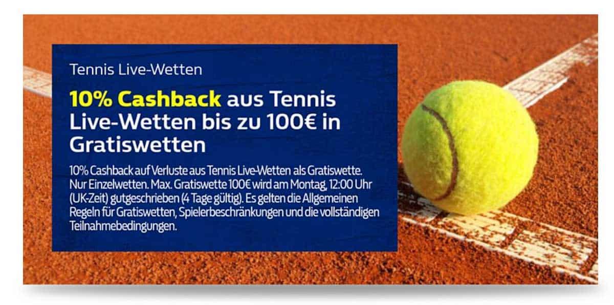 William Hill Cash Back Tennis