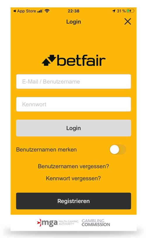 Betfair App Login