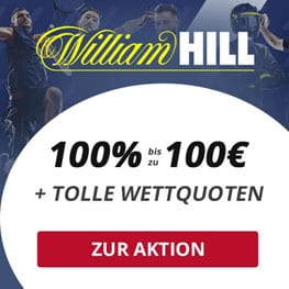 Exklusiver William Hill Wettbonus