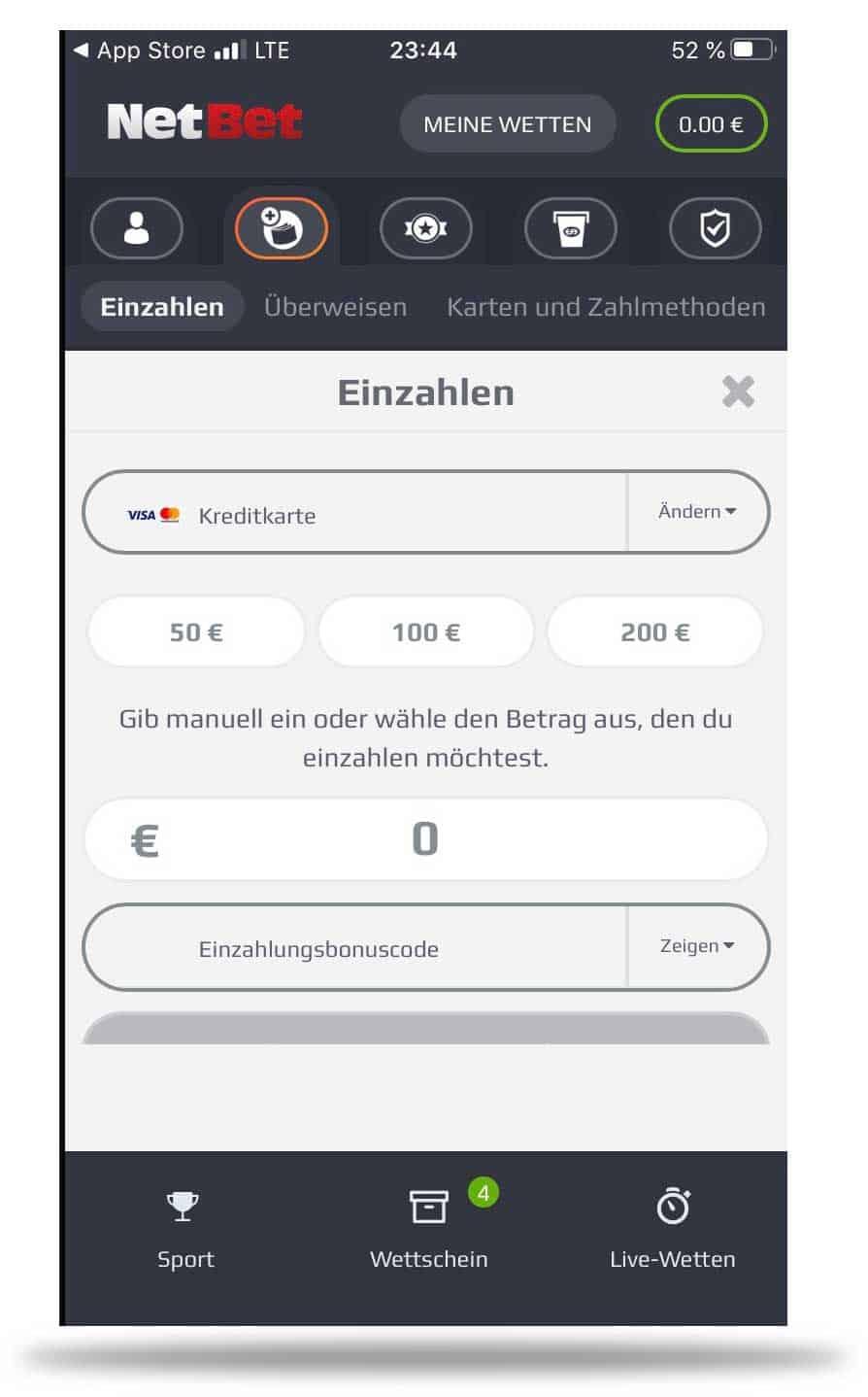 Netbet Einzahlung App