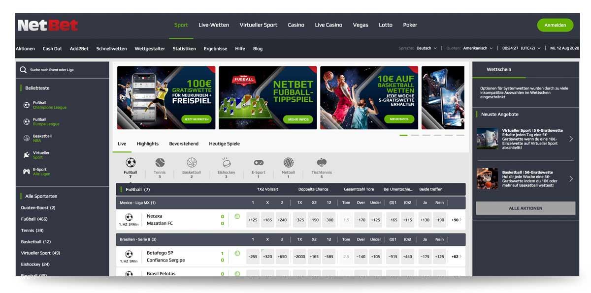 Startseite Netbet