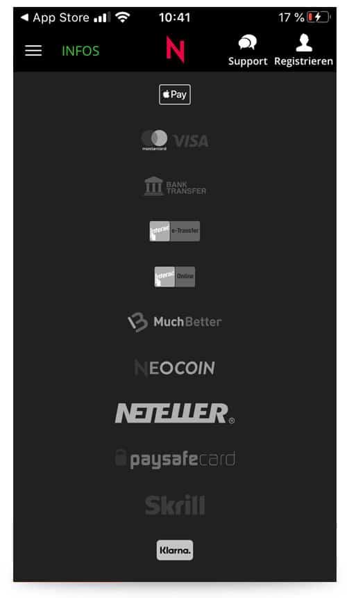 Neobet Zahlung App