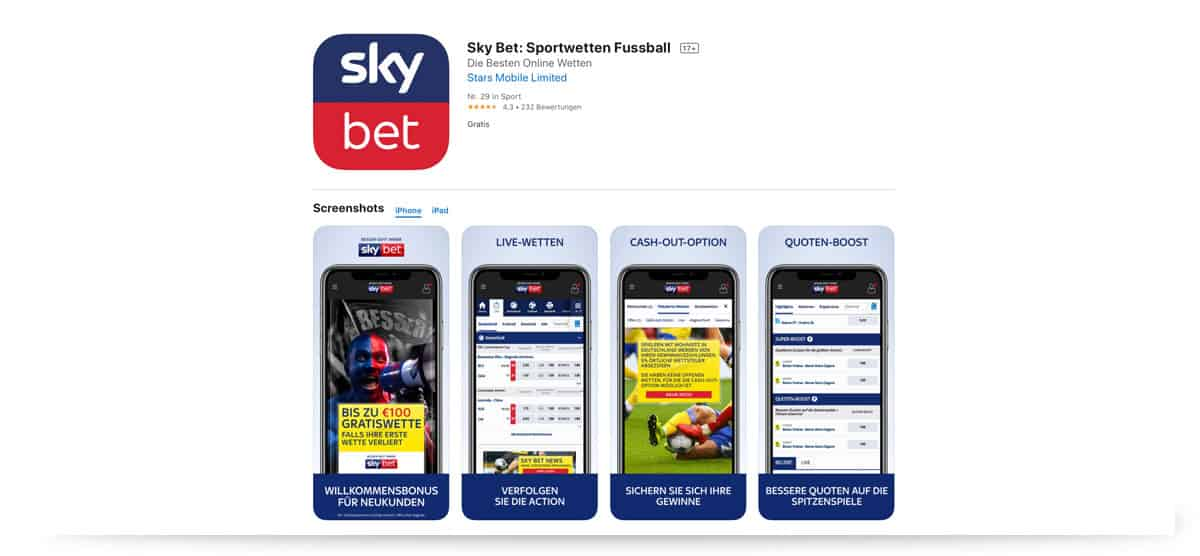 Skybet App iOS Apple