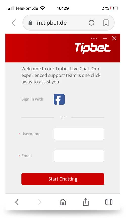 Chat Tipbet Mobile