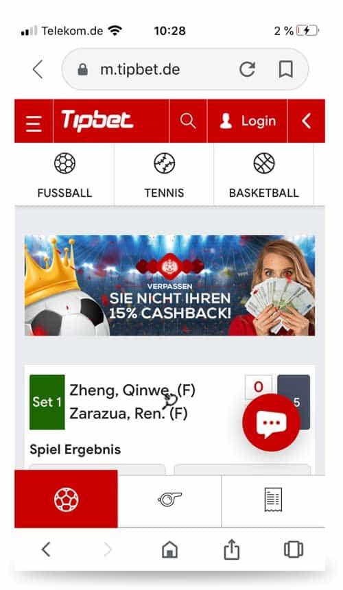 Startseite Tipbet App