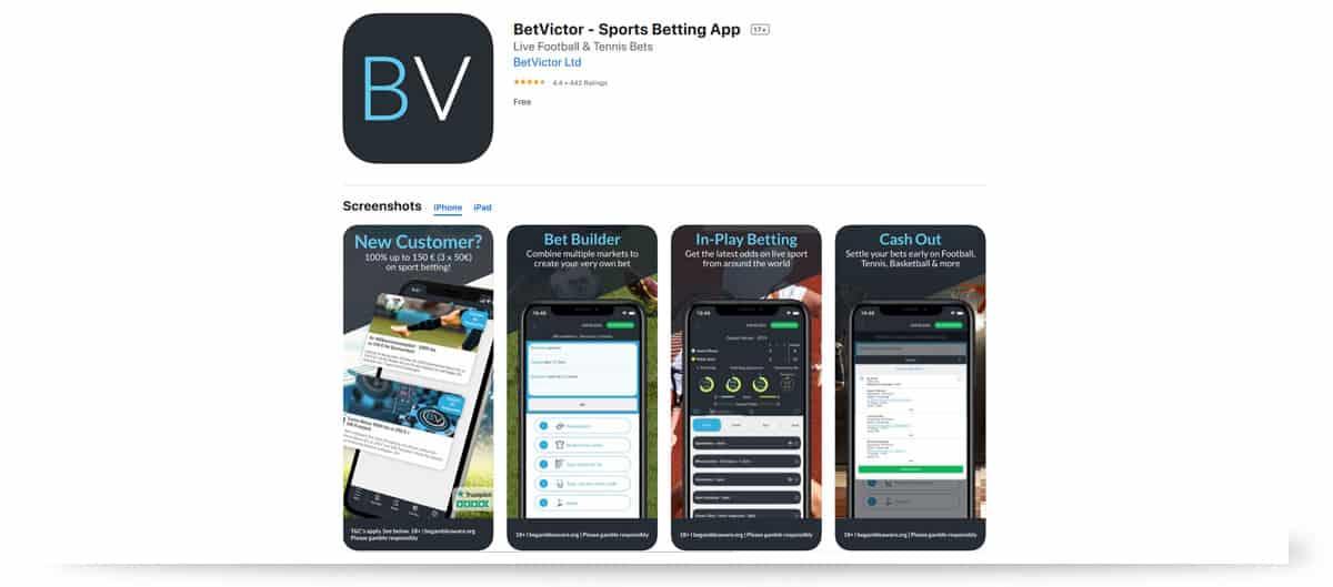 BetVictor Apple iOS App