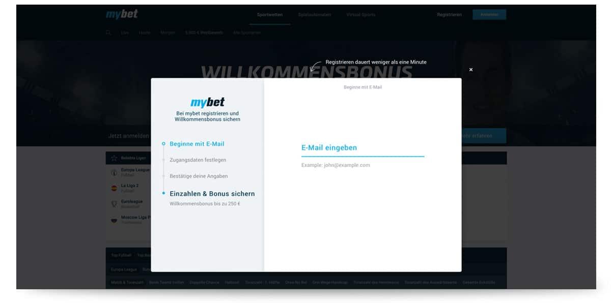 Anmeldung MyBet