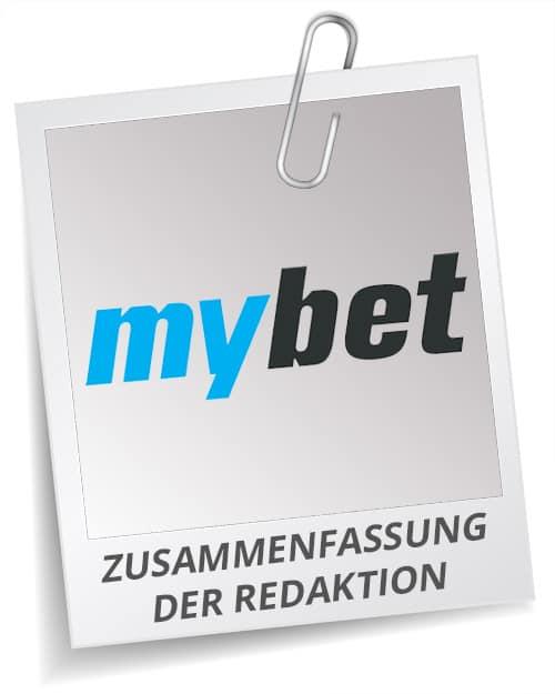 Fazit Testergebnis Mybet