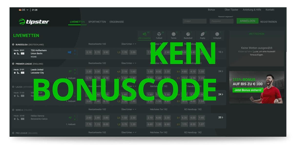 Tipster Bonuscode
