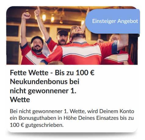 Bildbet neukunden Bonus 100 Euro