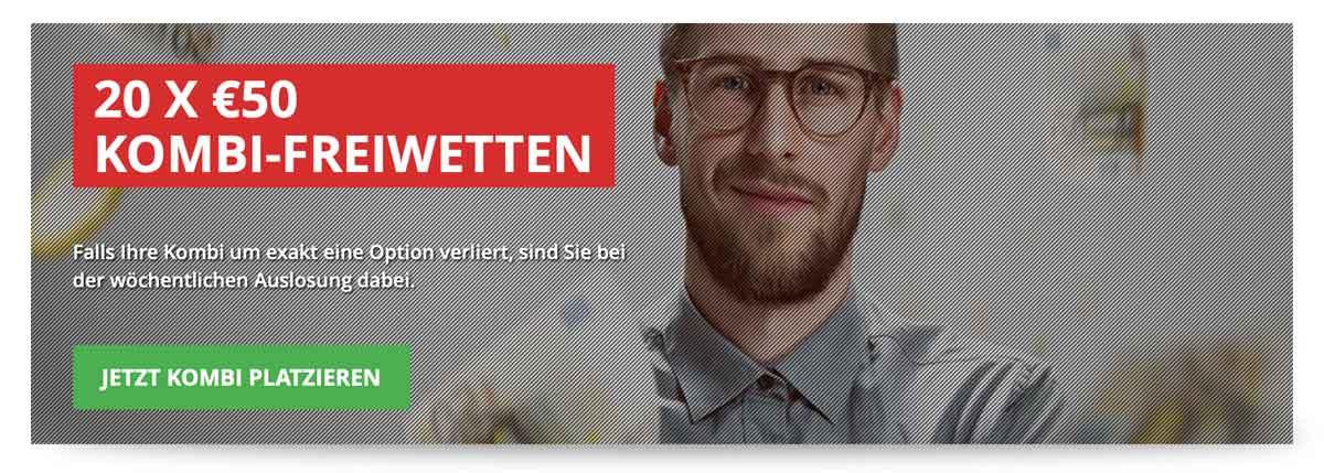 50€ Kombiwetten Freiwetten