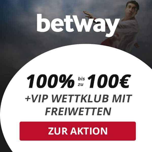 Exklusiver Online Wett Bionus 100 Euro Betway