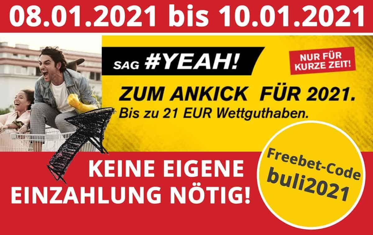 Interwetten Gutschein 21 Euro