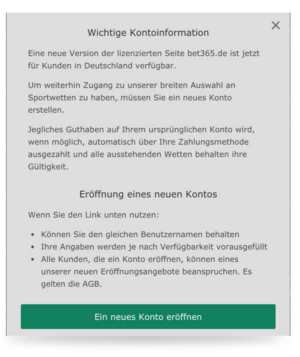 bet365 login problem meldung
