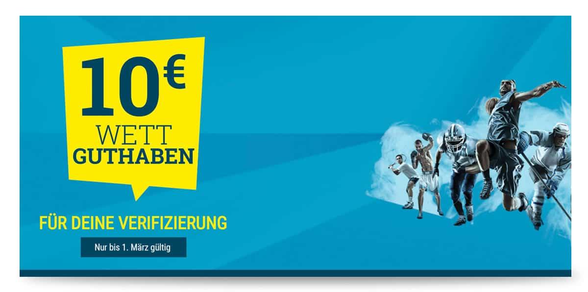 sportwetten.de 10€ Bonus ohne Einzahlung