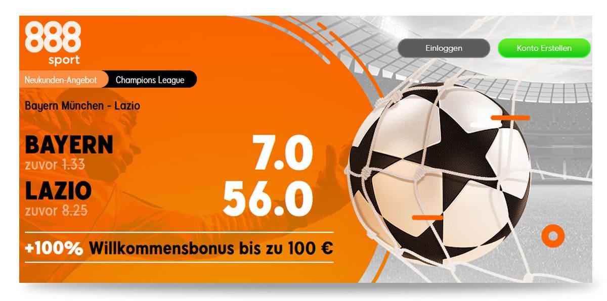 Beste Quote Bayern - Lazio 17.3.21