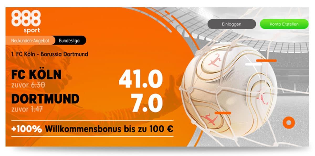 Beste Quote Köln - Dortmund 20.3.21