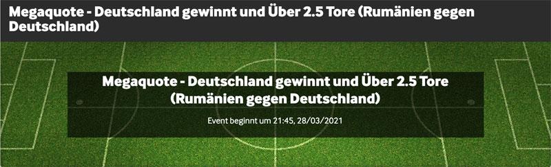 betway Quotenboost mit der besten Wettquoten Rumänien Deutschland 28.3.2021