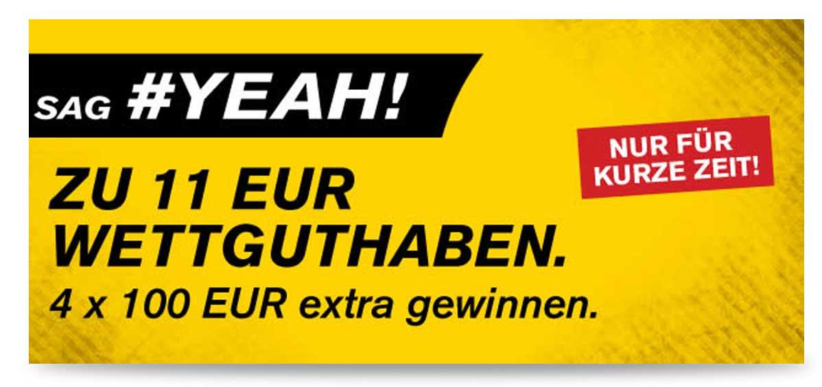 interwetten freebet 11 euro Aktion