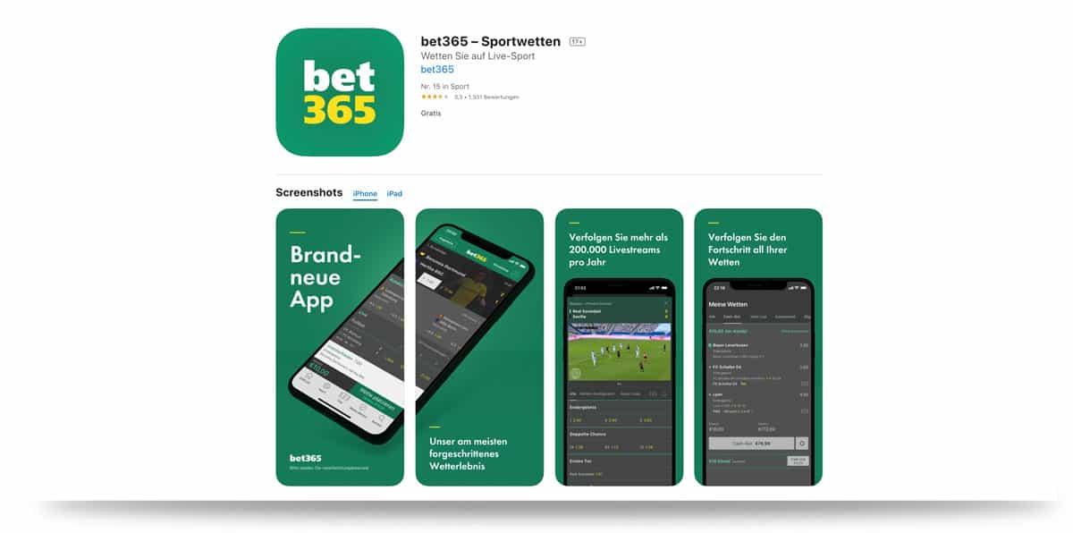 365bet mobile app im iTunes Store