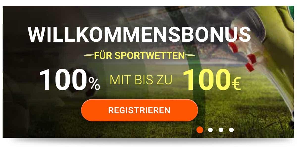 20bet 100€ Wettbonus