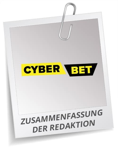 Fazit Testbericht Cyberbet Bonus