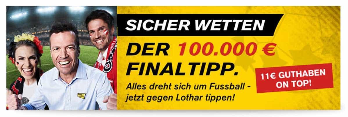 Interwetten EM Gutschein 10 Euro und Aktion 100.000€ Finaltipp