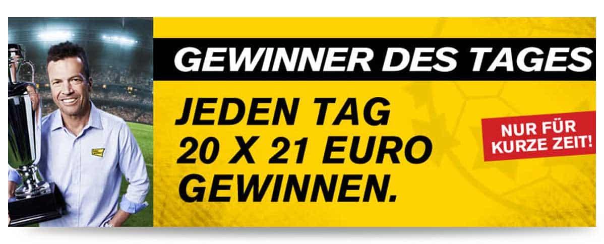 Interwetten EM Aktion 21 Euro Gutschein