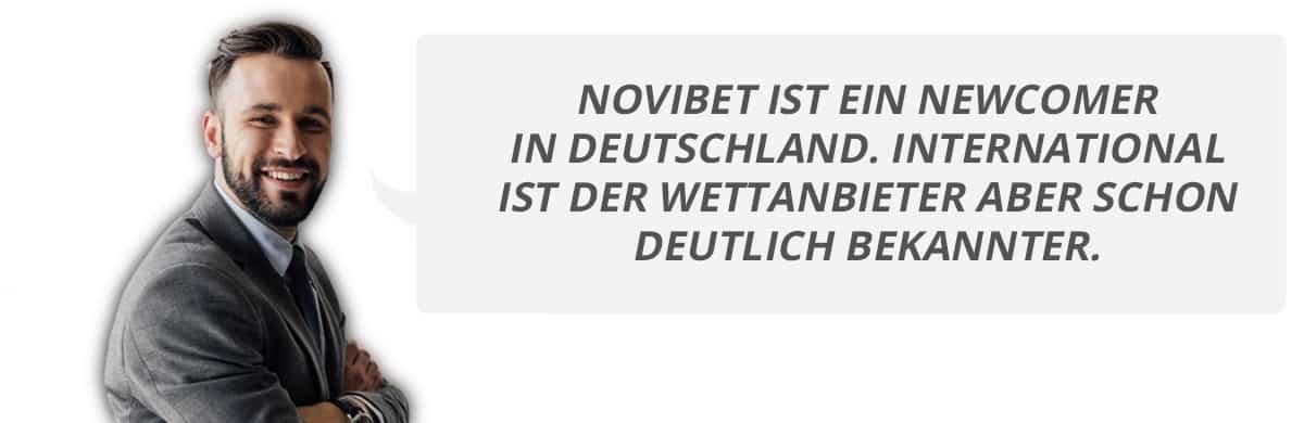 Jan berichtet über seine Erfahrungen mit Novibet