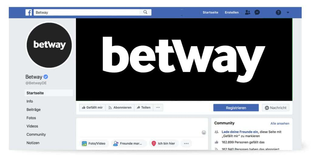 facebookseite betway
